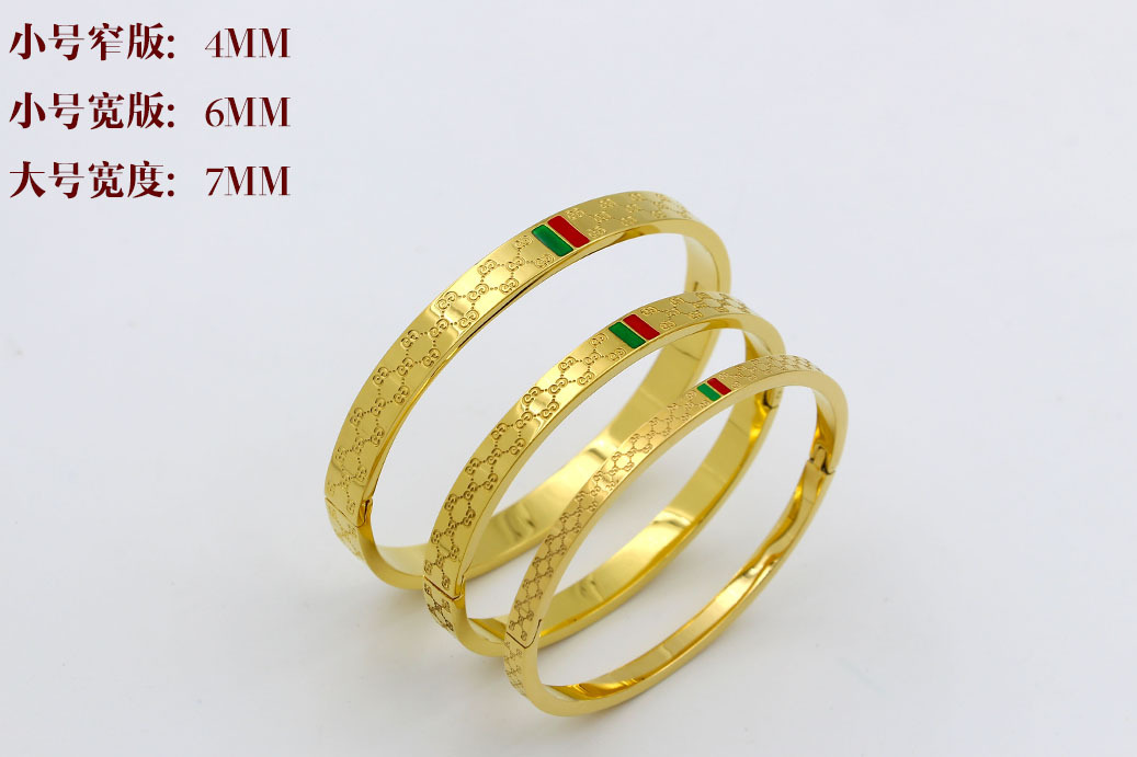Trendy Rose Gold Bracelets for Women Bangle Classic Designers Lady Stainless Steel Jewelry in Bangles from Jewelry Accessories