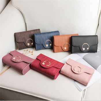 2020 Fashion Trend Ladies Solid Color Small Square Bag Korean Personality Metal Moon and Star Decorated Cross-body Handbags image