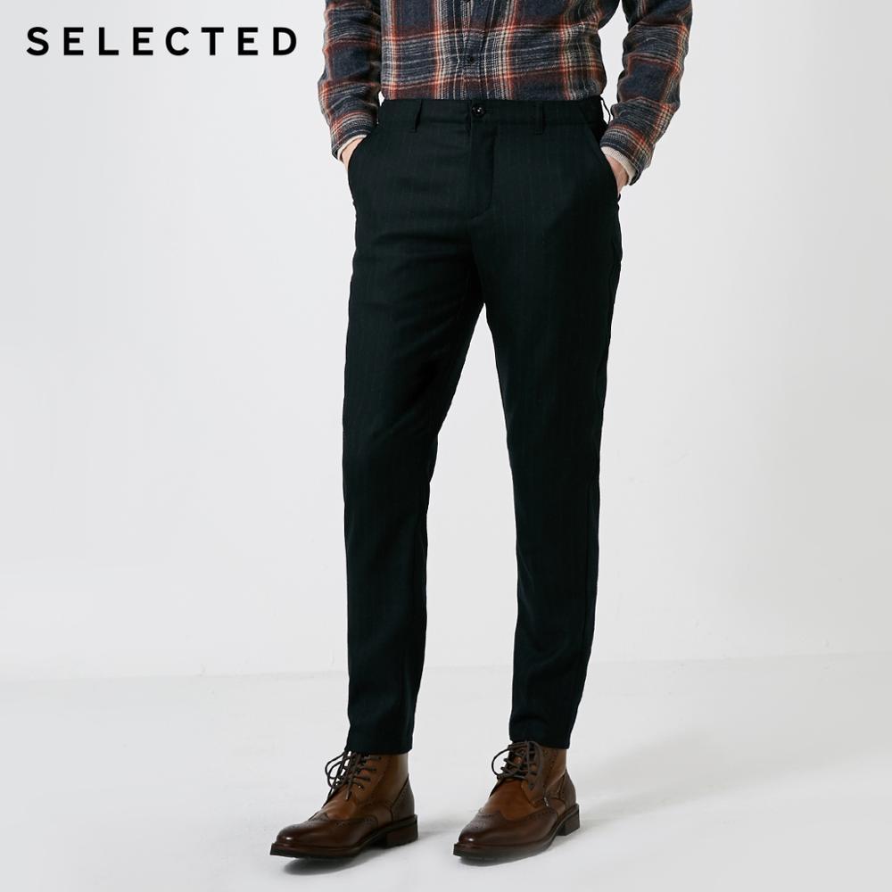 Erkek Kıyafeti'ten Dar Pantolonlar'de Seçilmiş erkek sonbahar ve kış çizgili elastik rahat pantolon S  418414523'da  Grup 1