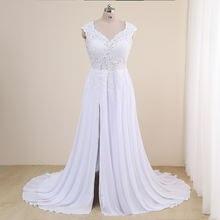 Современное пляжное свадебное платье размера плюс 2021 свадебные