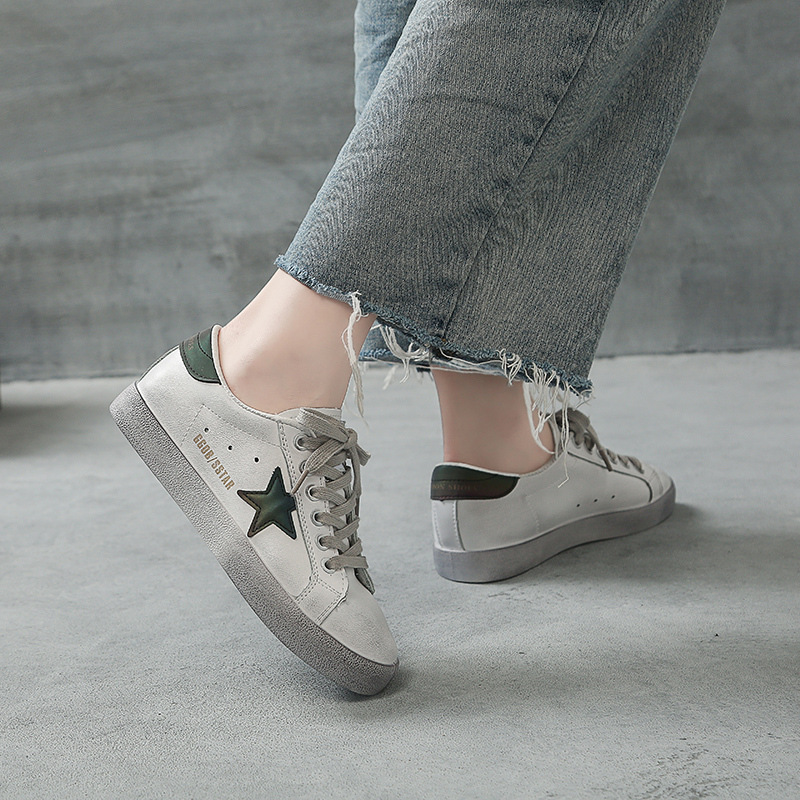 Fashion Casual Shoes Stars Old Dirty Shoes Women 2020 New Reflective Single Shoes Increase Korean Retro Dirty Dirty Shoes