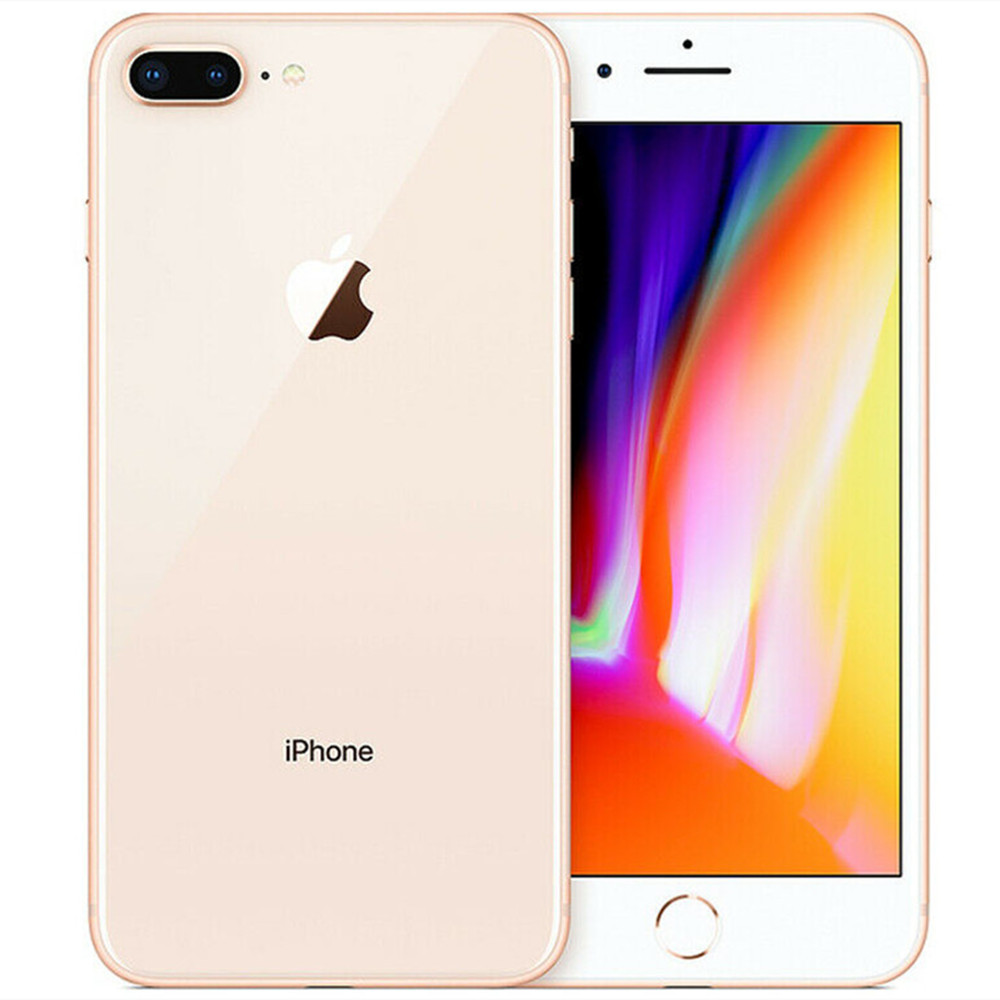 "Original apple iphone 8 plus 5.5 ""ios 4g lte ram 3gb rom 64/256gb hexa núcleo 12mp toque id impressão digital telefone celular smartphone 6"