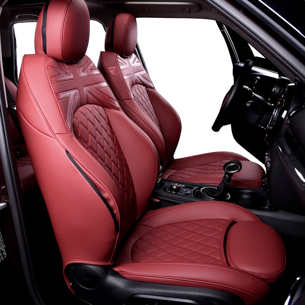 For BMW MINI Cooper F54 Car Seat Covers Wholesale Waterproof Leather Auto Seat Protector Accessories