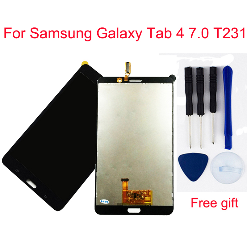 For Samsung Galaxy Tab 4 7.0 T231 LCD T235 SM-T231 SM-T235 Touch Screen Digitizer Sensor + LCD Display Panel Monitor Assembly