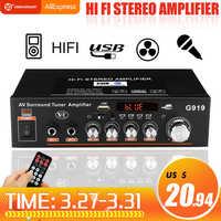 12V/220V 360W G919 Mini Amplificador de Audio bluetooth Estéreo Amplificador de potencia FM SD HIFI 2CH AMP reproductor de audio para coche