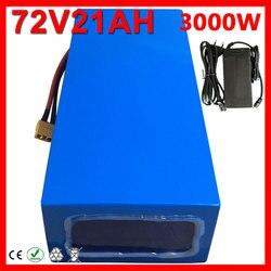 Batterie Lithium-ion 48/52/60/72V, 15/18/20 ah, haute puissance, pour vélo électrique Ebike 1000/2000/3000W, avec chargeur