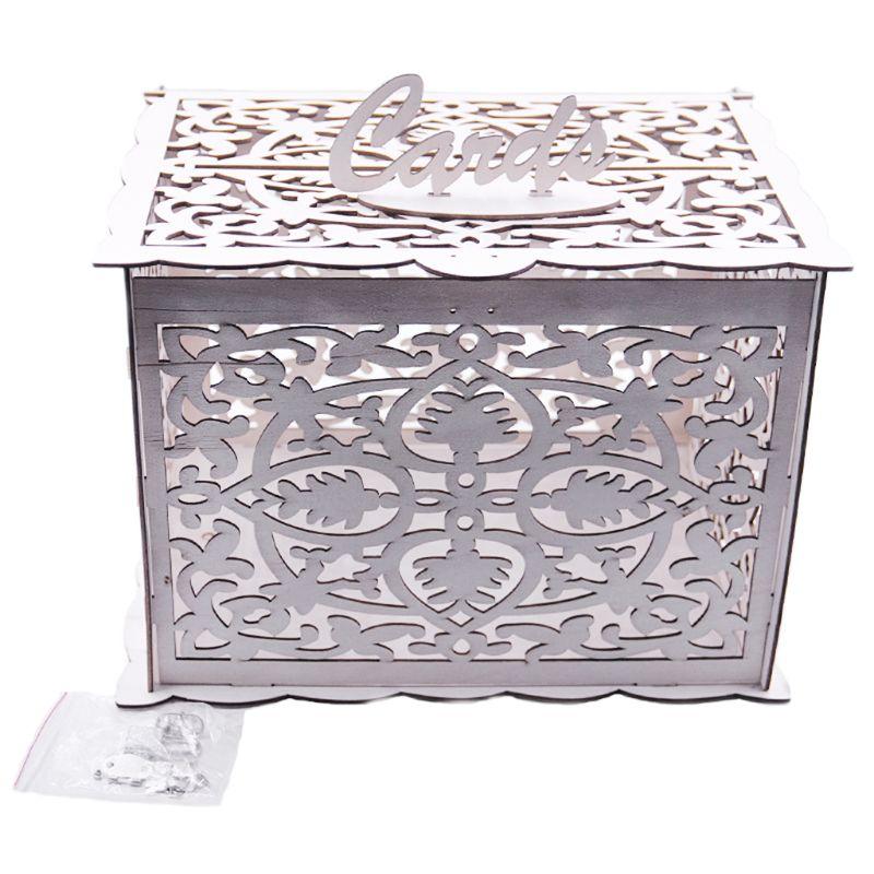 Творческий DIY Деревянные Полые подарочные карты письмо коробка контейнер Свадебная вечеринка Декор для дома и спальни X4YE
