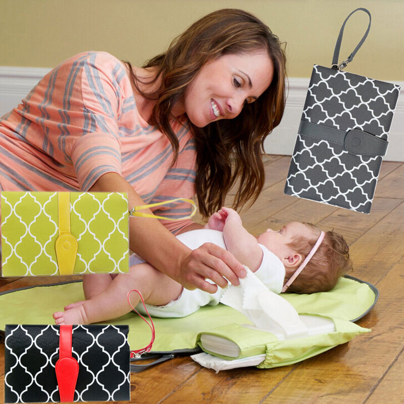 Pudcoco Hot Baby Portable Folding Diaper Changing Pad Waterproof Mat Bag Travel Storage
