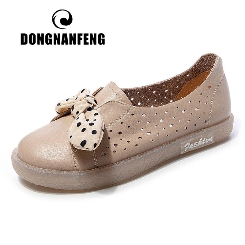 DONGNANFENG/женские белые туфли из натуральной коровьей кожи; лоферы на плоской подошве с бантиком; нескользящие JZ-19221