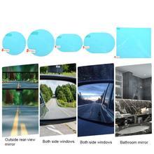 Горячая 2 шт Автомобильная стеклянная пленка непромокаемая противотуманная Автомобильная наклейка на зеркало заднего вида защитная пленка от дождя