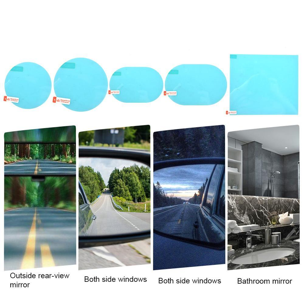 Hot 2PCS Car Glass Film Rainproof Anti-Fog Car Rearview Mirror Sticker  Protective Film Rain Shield