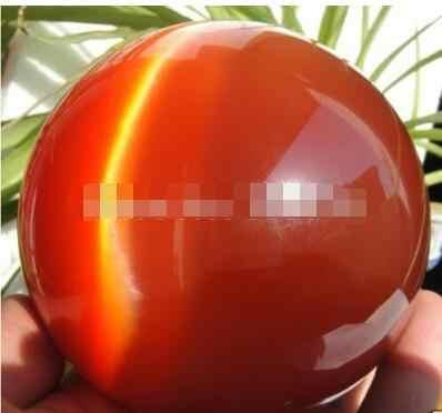 Jual Hot Asia Kuarsa Red Kucing Mata Kristal Bola 100 Mm + Berdiri