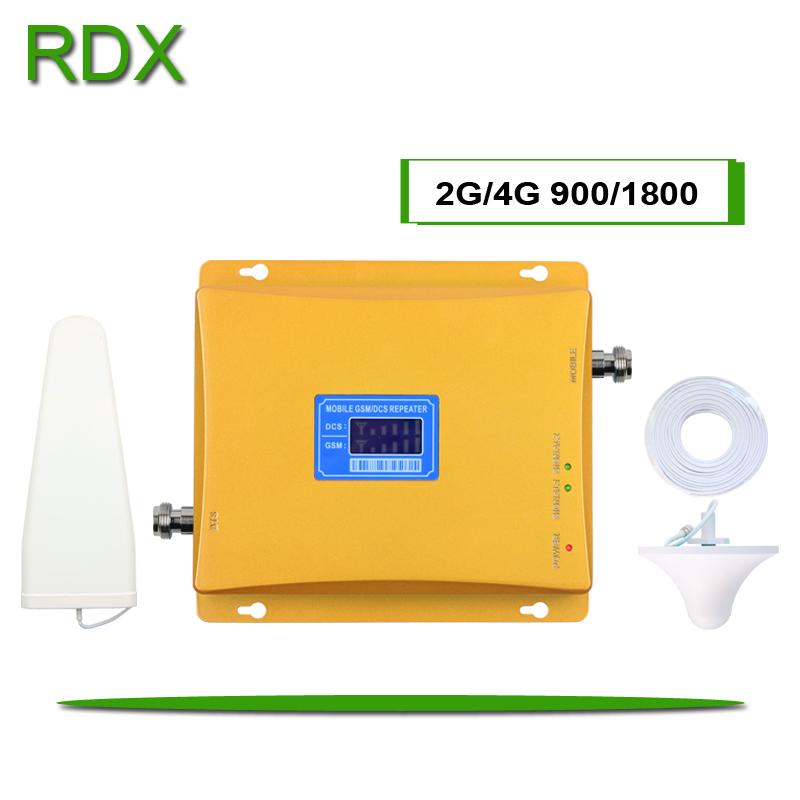 Cell Phone Dual Band 2G 4G Booster GSM900 DCS 1800 MHz Signal Repeater Amplifier For Frequency Band 3 And 8 Wholesale