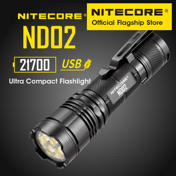 NITECORE ND02 super bright light 2700 lumens wide-angle floodlight handheld portable usb direct charge astigmatism flashlight