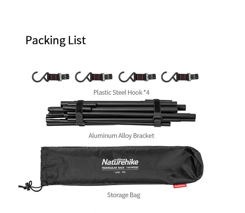 Naturehike chenyi acampamento pendurado rack 8kg peso