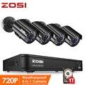 ZOSI 720P 8CH 4-in-1 CVBS AHD TVI CVI CCTV System Outdoor Nachtsicht Video Kamera Sicherheit system Überwachung DVR Kit