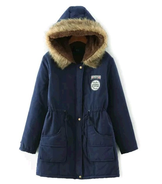 Winter Coat Women Winter Jacket Long   Parkas   Female Hooded Jacket Winter Coat Cotton Fur Basic Jacket Long Coat For Women   Parka