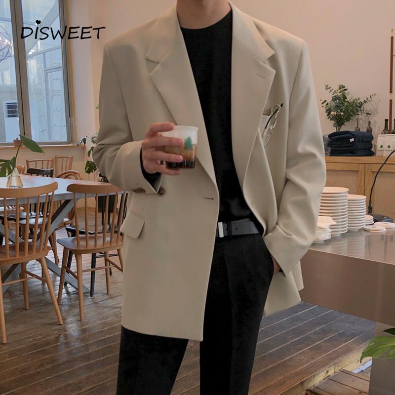 Lapel Solid Suit Men Korean Slim Long Sleeve Warm Blazer Men's 2020