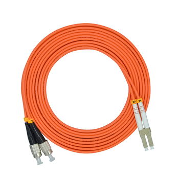 100Meters LC/PC-FC/PC,3.0mm Diameter,OM1 Multimode 62.5/125,Duplex,LC to FC Optical Fiber Patch Cord Cable