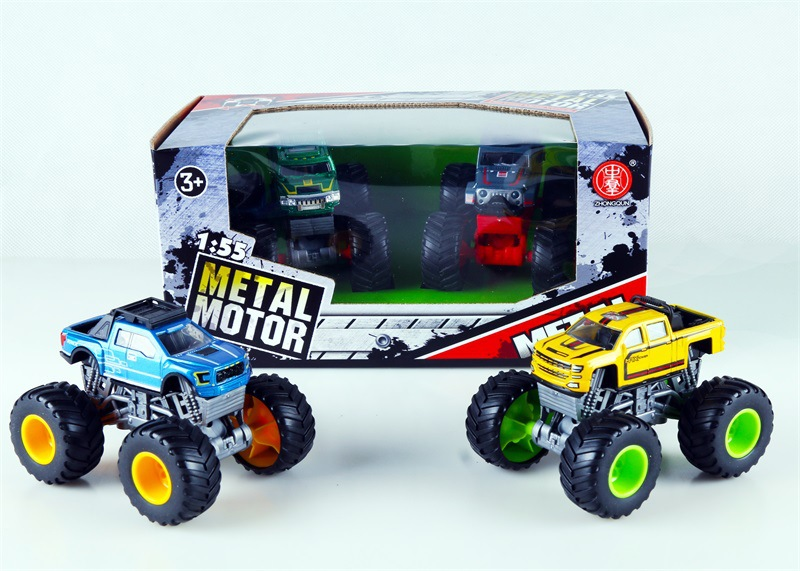 Big Foot Four Wheel Drive Graffiti Off-Road Car Model Children Model Model Car Climbing Toy