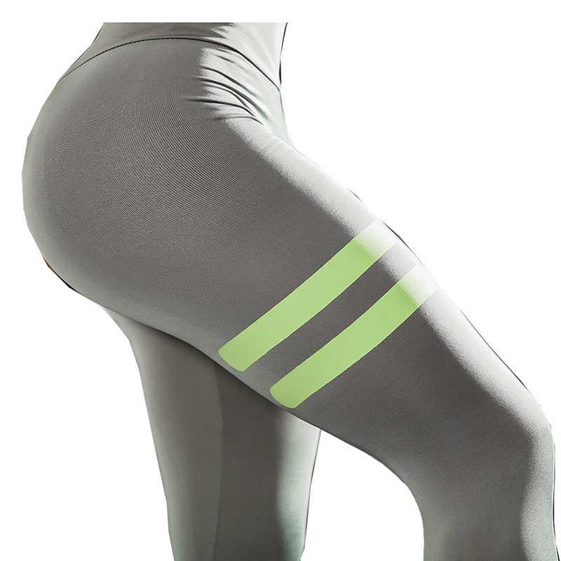 Женские брюки LUSLOS, леггинсы для фитнеса, штаны с высокой талией и принтом, спортивные штаны для бега, черные, зеленые Леггинсы