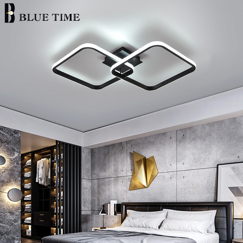 cheapest Modern chandelier lighting bedroom living room balcony home decoration Lamparas aisle ceiling lamp remote control chandelier