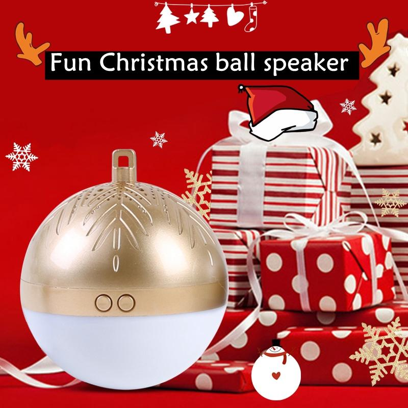 Fun TWS Wireless Bluetooth Christmas Ball Speaker LED Light Christmas Gift Mini Colorful Sound 8 Christmas Songs Gift image