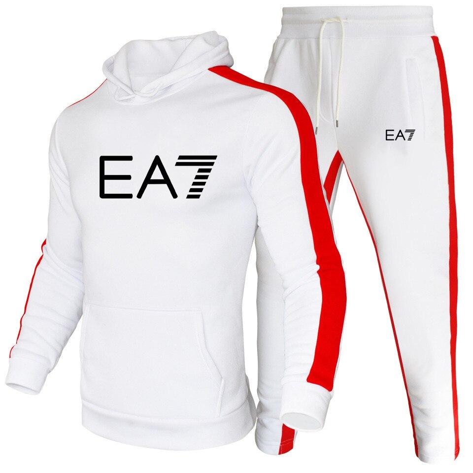 2020 Sport set men 2-piece set Hoodies and Sweatpants Suit Tracksuit Men Women Hoodie Sweatshirt Jogging pants Pullover Suit