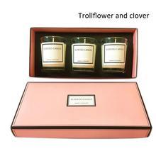 Ароматическая свеча высокого класса Набор подарочных коробок 3 шт. набор ароматическая свеча эфирное масло соевая восковая свеча со стеклом