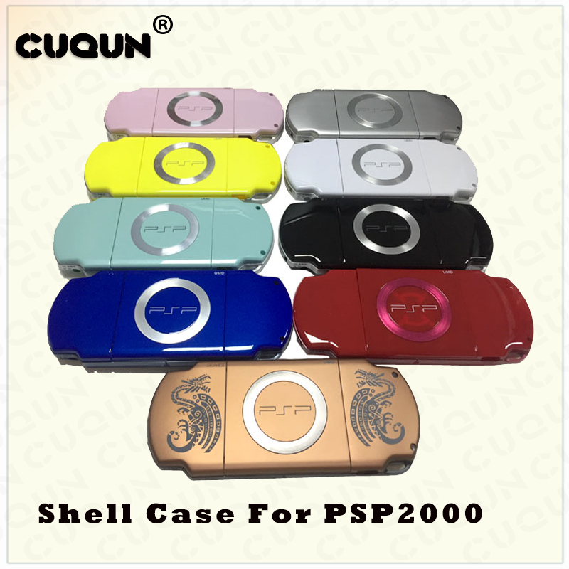 For Sony PSP 2000 Full Housing Case Complete Shell Case Replacement Buttons Kit Screwdrive Cover Case Parts For PSP 2000 Console