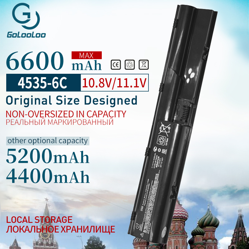 Golooloo 6cell 11.1v 4400MaH battery for HP Probook 4330s 4435s 4446s 4331s 4436s 4530s 4440s 4341s 4535s 4431s 4441s 4540s