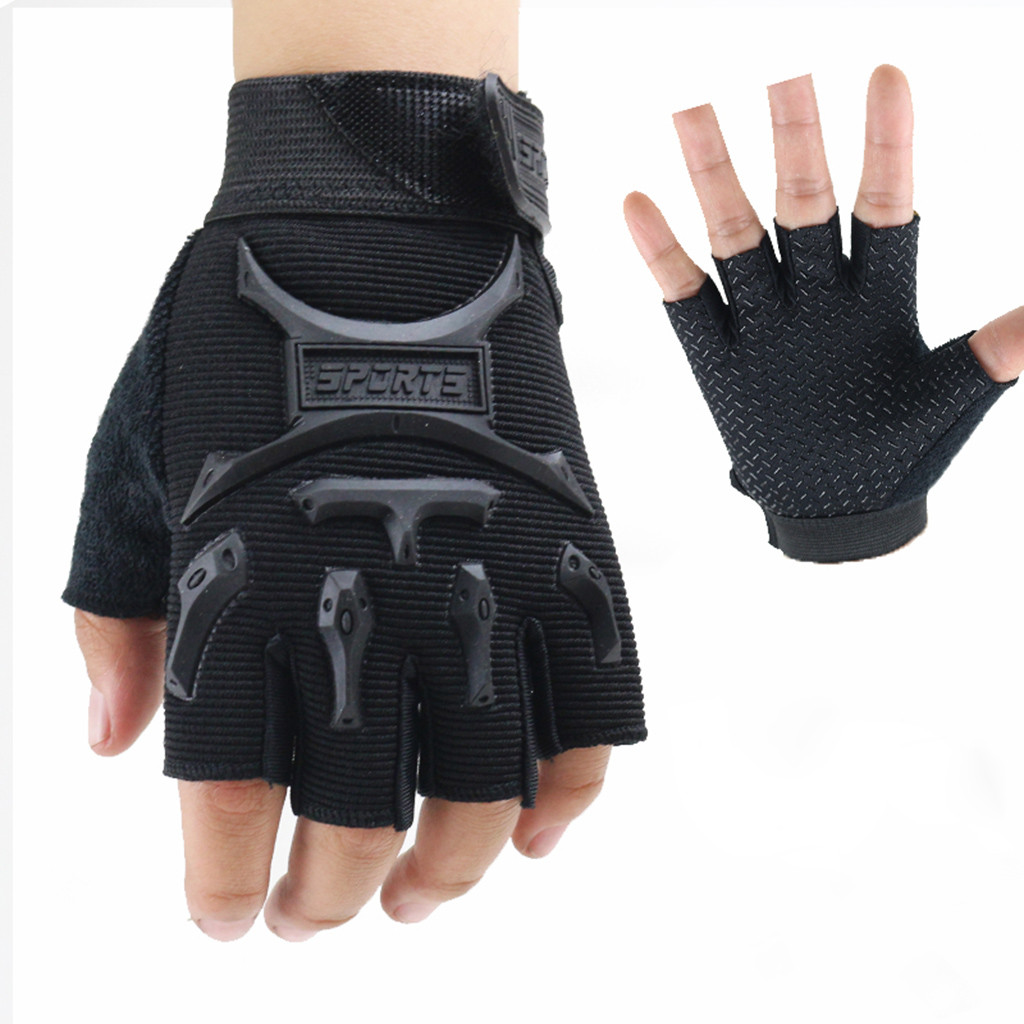 Tactical Half Finger Handschuhe Militär Sports Wandern Fingerlose Fäustling DE