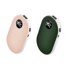 5200 мА/ч, USB, Перезаряжаемые электрическая грелка для рук зимняя Двусторонняя Отопление мини 5V с длительным сроком службы карман Мощность бан...
