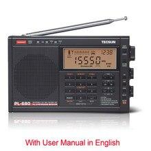 Tecsun-Radio PL-680 FM Digital de banda completa, receptor de Radio estéreo sintetizado, altavoz portátil para dormir automático, MW/SBB/PLL