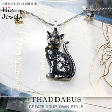 Pendant Necklace Magic Cat,2020 Brand New Link Chain Fashion Jewelry Europe Glamorous 925 Stering Silver Bijoux Gift For Women