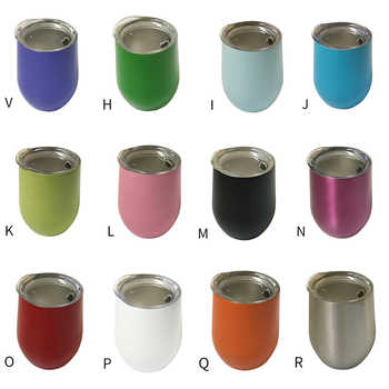 Wholesale 50pcs/lot 12oz Wine Tumbler Stainless Steel Wine Glass Egg Cup 2 layers Vacuum Insulated Beer Mug Wedding Party Gifts - DISCOUNT ITEM  30% OFF All Category