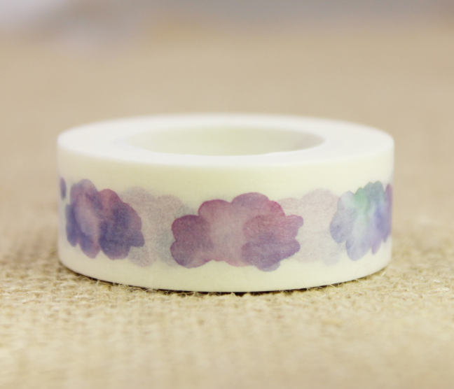 Purple Cloud Washi Masking Tape(1piece)
