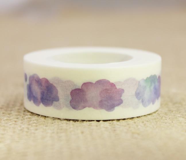 Purple Cloud Washi Masking Tape(1piece)