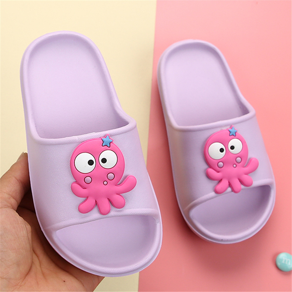 Boys Sea Fish Octopus Cartoon Kids Shoes Girls Children Slippers Clogs Flip Flop Light Garden Home Footwear Beach Showeroom EVA