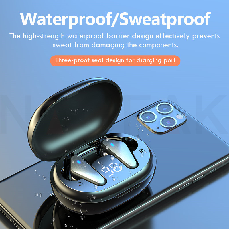 TWS Bluetooth 5.0 Headphones Wireless Waterproof Earphones Noise Cancelling 9D Stereo Sports Earbuds Headsets With Microphone 6