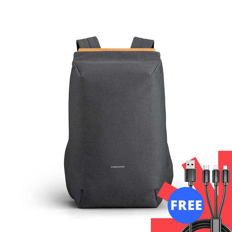 Kingsons 2020 nuovo impermeabile zaini sacchetto di scuola di ricarica USB anti-furto gli uomini e le donne zaino per il computer portatile di viaggio mochila