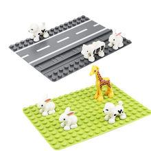 Grote Deeltjes Bricks Bodemplaat Speelgoed Juguetes Zoo Hollow Bouwstenen Tracks Road Animails Grondplaten Voor Diy Games Kinderen