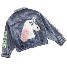 Girls Denim Jacket Spring Outerwear Children for Fall Kids Coar Teens 12-Year 8 10 6