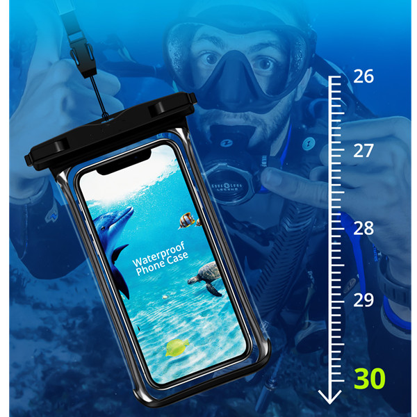 H98582dd2be2d4fdfb8533fffdfe21d5aH - Full View Waterproof Swimming Pouch Case for Phone Underwater Snow Rainforest Transparent Dry Bag Big Mobile Phone Bag Sealed