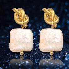 SEVEN GIRL Drop Pearl Earrings Genuine Pearl Earrings Natural Pearl Earrings For Women Natural Baroque Pearl Earrings Gift [nymph] fine jewelry long tassel pearl earrings natural big baroque pearl drop earrings for women party e321