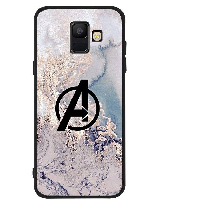 """С принтами """"Marvel"""", """"Мстители"""", для samsung Galaxy A9 A8 A7 A6 A5 A3 J3 J4 J5 J6 J8 плюс 2017 2018 M30 A40S A10 A20E чехол для телефона чехол Funda etui"""