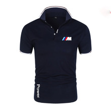 2021 New BMW M Summer Casual Polo Shirt Men's Short Sleeve Lapel Slim Polo Shirt Casual Business Polo Shirt Men's Large Size