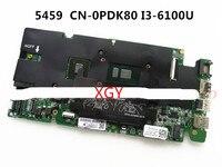 CN 0PDK80 0PDK80 PDK80 Laptop motherboard FOR DELL VOSTRO 5459 Mainboard DA0AM8MB8D0 REV D i3 6100u CPU