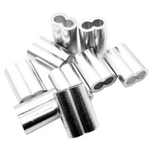 5/16inch Wire Rope Aluminum Sleeves Clip Fittings Cable Crimps 10pcs