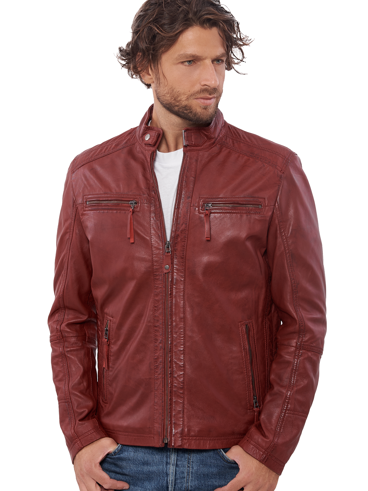 H98588f07075246d79827c9d2285177b69 VAINAS European Brand Mens Genuine Leather jacket for men Winter Real sheep leather jacket Motorcycle jackets Biker jackets Alfa